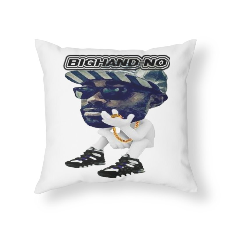 BIGHAND CHARACTER Home Throw Pillow by BIGHAND-NO's Artist Shop