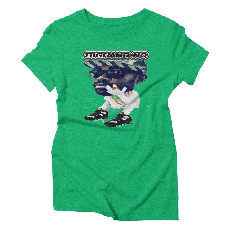 BIGHAND CHARACTER Women's Triblend T-Shirt by BIGHAND-NO's Artist Shop