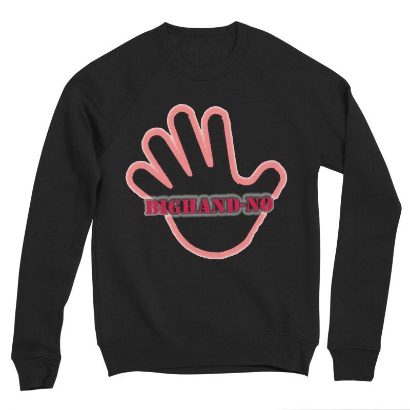 BIGHAND SMACK Men's Sponge Fleece Sweatshirt by BIGHAND-NO's Artist Shop