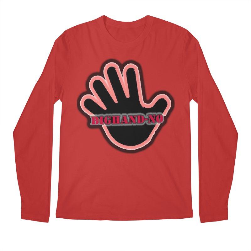 BIGHAND SMACK Men's Regular Longsleeve T-Shirt by BIGHAND-NO's Artist Shop