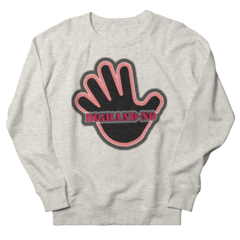BIGHAND SMACK Women's French Terry Sweatshirt by BIGHAND-NO's Artist Shop