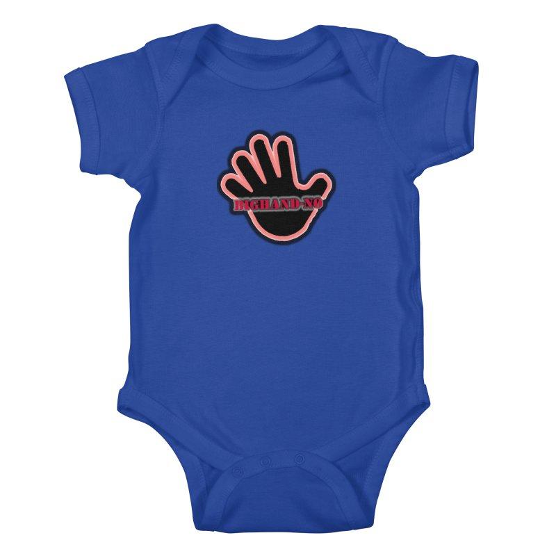 BIGHAND SMACK Kids Baby Bodysuit by BIGHAND-NO's Artist Shop