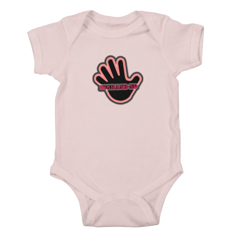 BIGHAND SMACK Kids Baby Bodysuit by BIGHAND-NO's Artist Shop