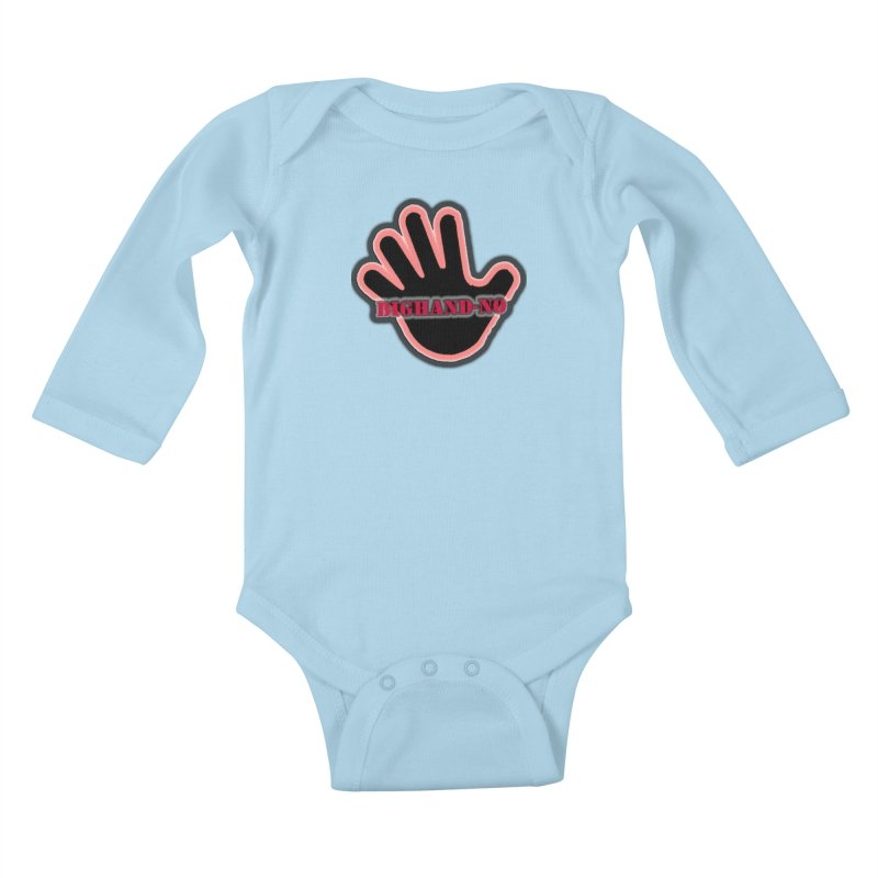 BIGHAND SMACK Kids Baby Longsleeve Bodysuit by BIGHAND-NO's Artist Shop