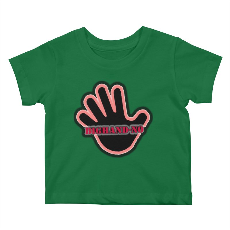 BIGHAND SMACK Kids Baby T-Shirt by BIGHAND-NO's Artist Shop