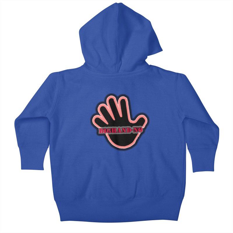 BIGHAND SMACK Kids Baby Zip-Up Hoody by BIGHAND-NO's Artist Shop