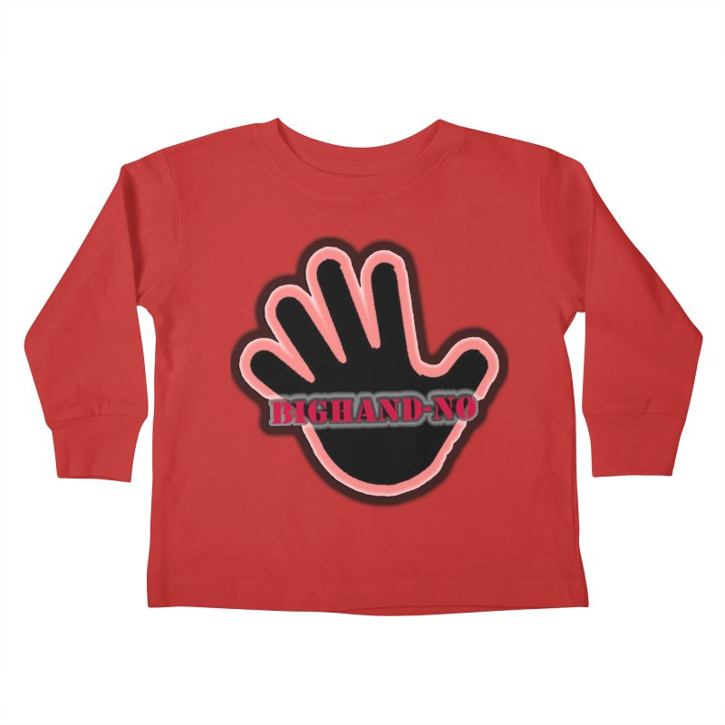BIGHAND SMACK Kids Toddler Longsleeve T-Shirt by BIGHAND-NO's Artist Shop