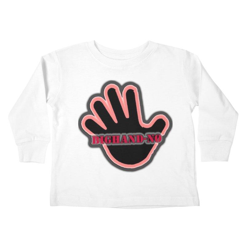 BIGHAND SMACK Kids Toddler Longsleeve T-Shirt by BIGHAND-NO's Artist Shop
