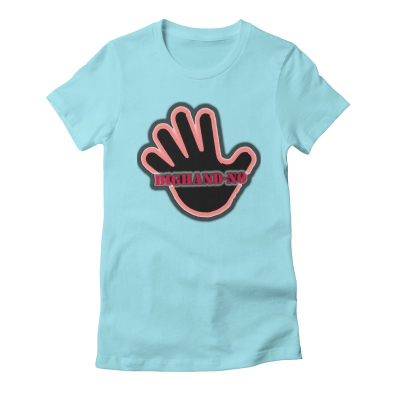 BIGHAND SMACK Women's Fitted T-Shirt by BIGHAND-NO's Artist Shop