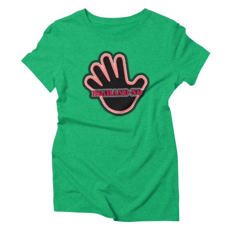 BIGHAND SMACK Women's Triblend T-Shirt by BIGHAND-NO's Artist Shop