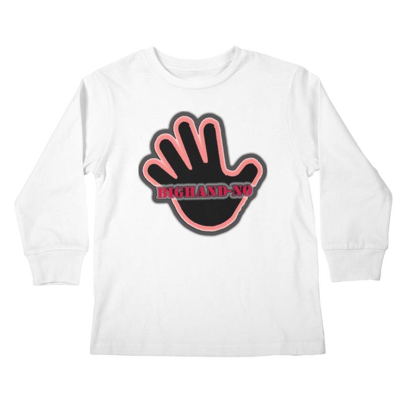 BIGHAND SMACK Kids Longsleeve T-Shirt by BIGHAND-NO's Artist Shop