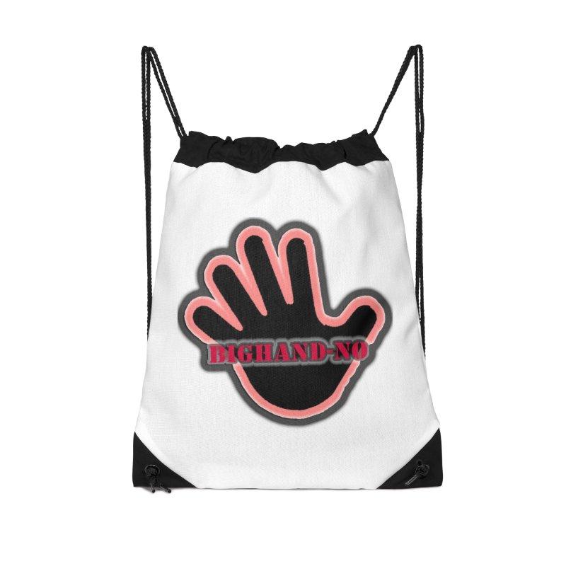 BIGHAND SMACK Accessories Drawstring Bag Bag by BIGHAND-NO's Artist Shop