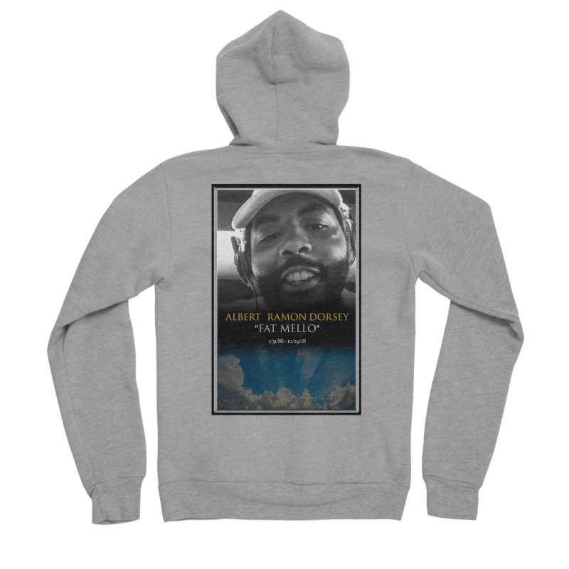 R.I.P. FAT MELLO Men's Sponge Fleece Zip-Up Hoody by BIGHAND-NO's Artist Shop