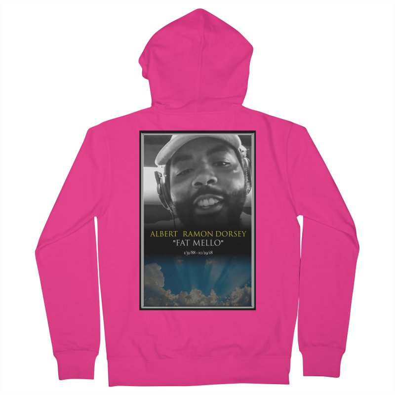 R.I.P. FAT MELLO Men's French Terry Zip-Up Hoody by BIGHAND-NO's Artist Shop