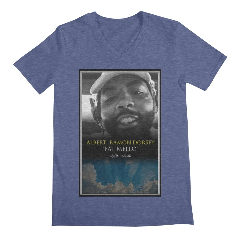 R.I.P. FAT MELLO Men's Regular V-Neck by BIGHAND-NO's Artist Shop