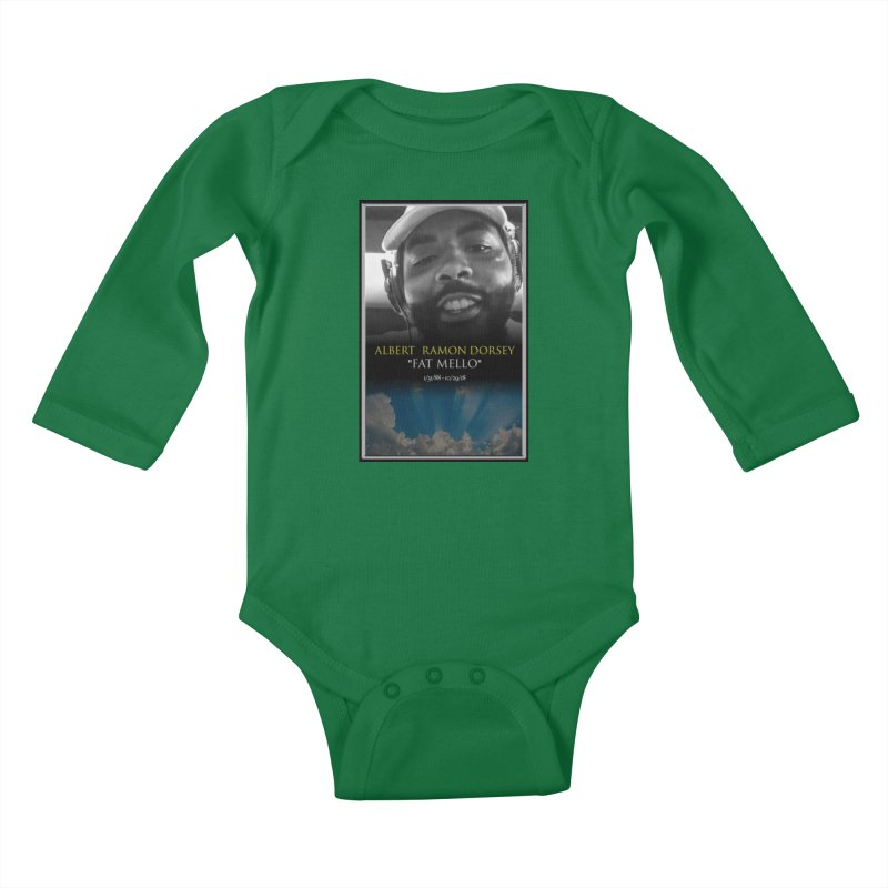 R.I.P. FAT MELLO Kids Baby Longsleeve Bodysuit by BIGHAND-NO's Artist Shop