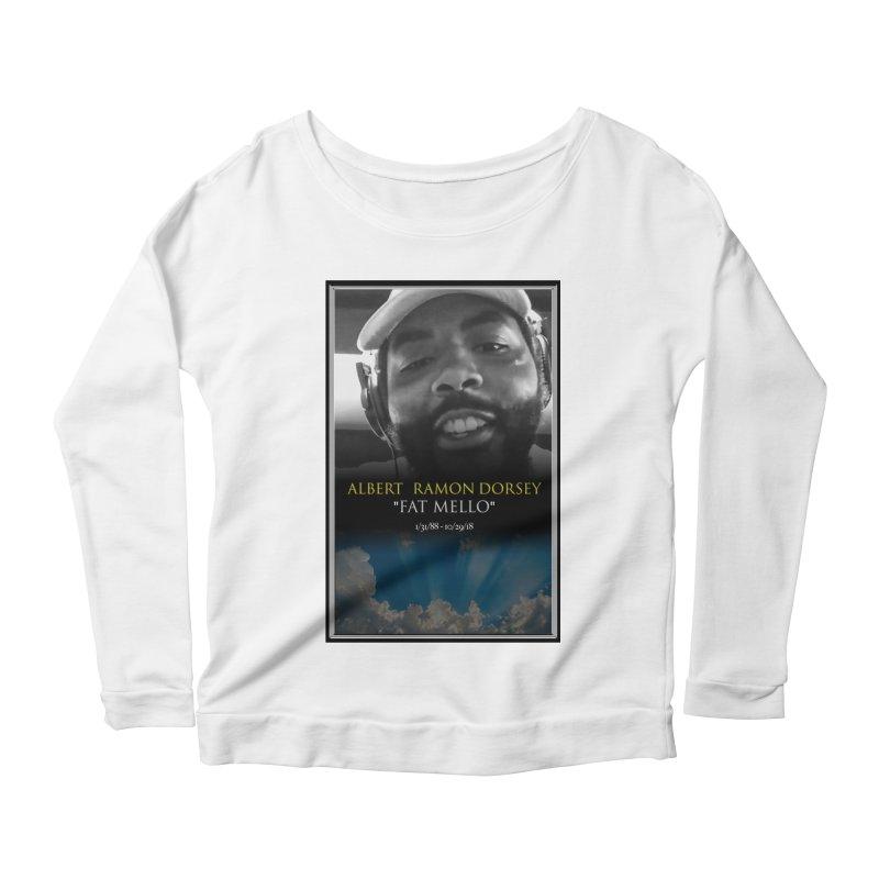 R.I.P. FAT MELLO Women's Scoop Neck Longsleeve T-Shirt by BIGHAND-NO's Artist Shop