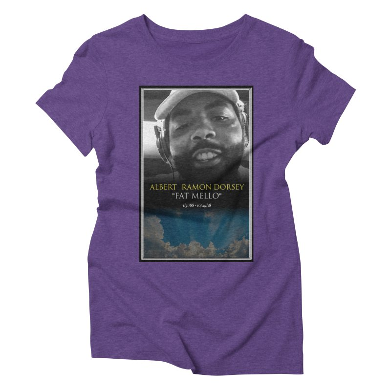 R.I.P. FAT MELLO Women's Triblend T-Shirt by BIGHAND-NO's Artist Shop