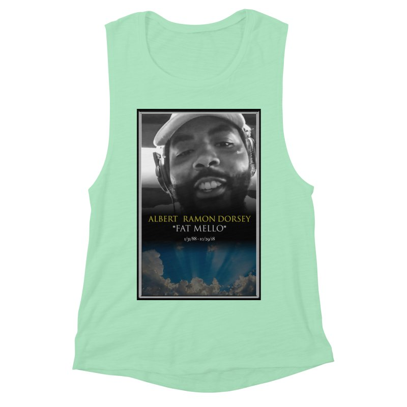 R.I.P. FAT MELLO Women's Muscle Tank by BIGHAND-NO's Artist Shop