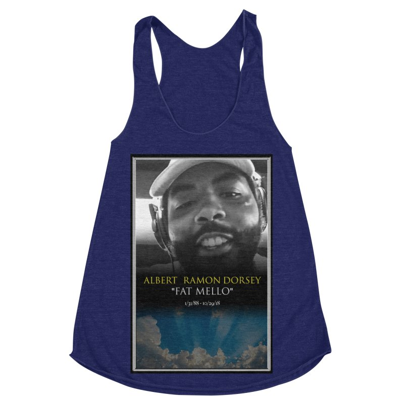 R.I.P. FAT MELLO Women's Racerback Triblend Tank by BIGHAND-NO's Artist Shop