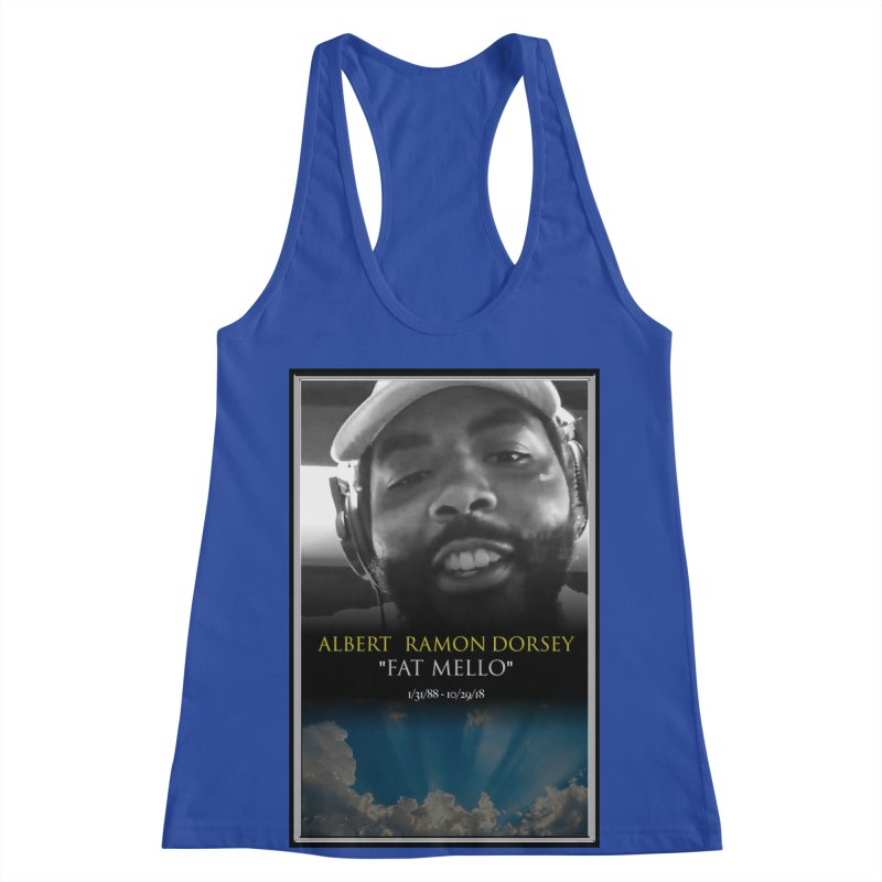 R.I.P. FAT MELLO Women's Racerback Tank by BIGHAND-NO's Artist Shop