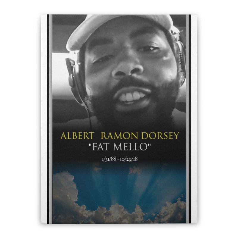 R.I.P. FAT MELLO Home Stretched Canvas by BIGHAND-NO's Artist Shop