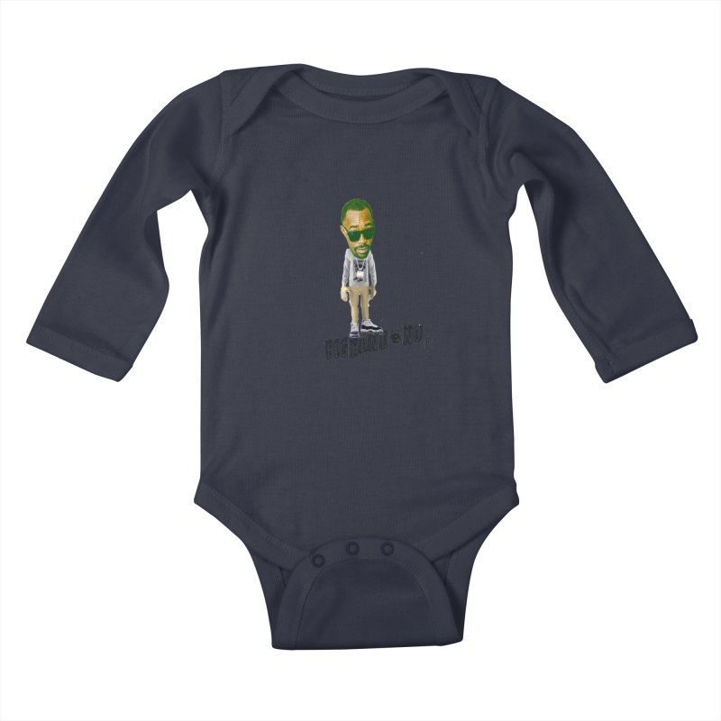 Unreleased Exclusive Cartoon Kids Baby Longsleeve Bodysuit by BIGHAND-NO's Artist Shop