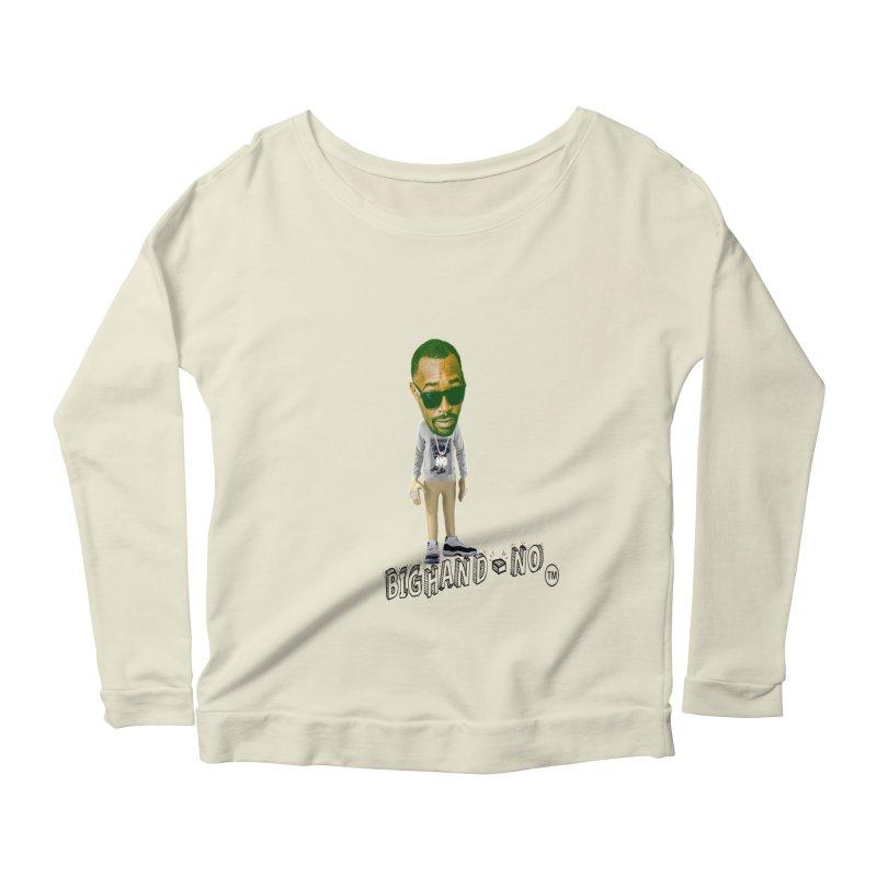 Unreleased Exclusive Cartoon Women's Scoop Neck Longsleeve T-Shirt by BIGHAND-NO's Artist Shop