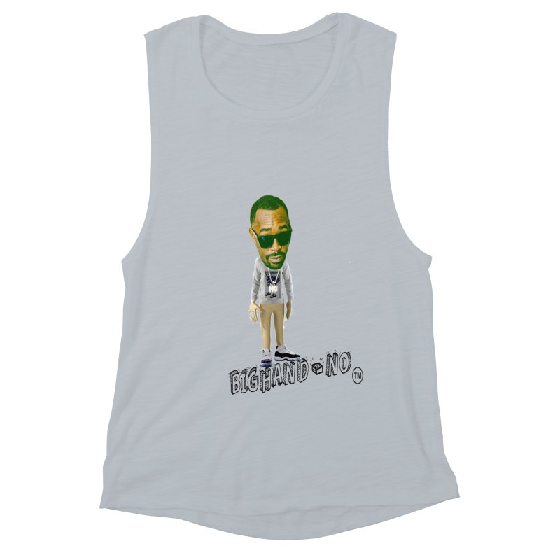 Unreleased Exclusive Cartoon Women's Muscle Tank by BIGHAND-NO's Artist Shop