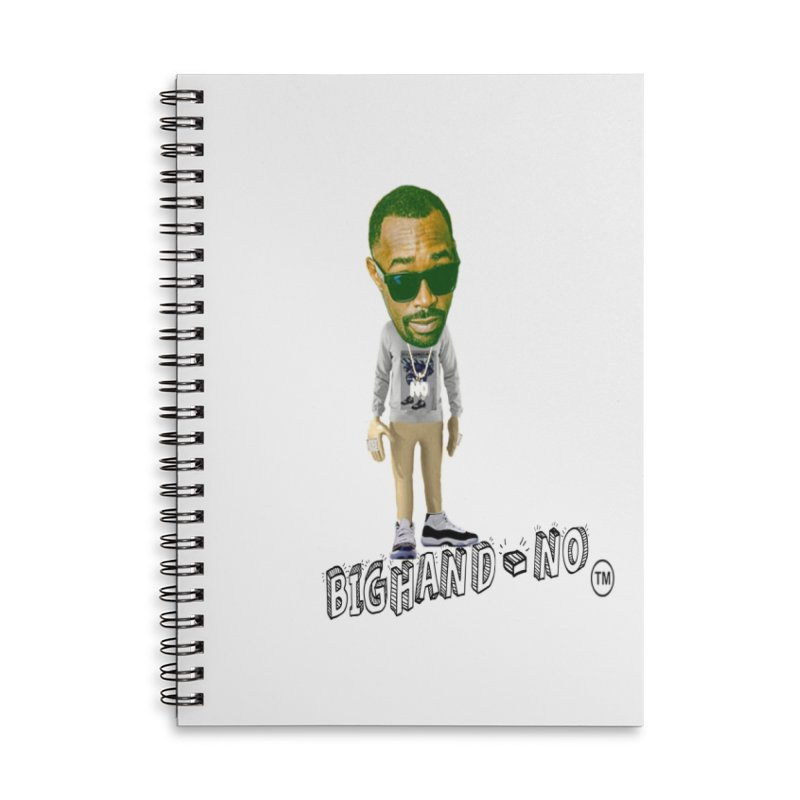 Unreleased Exclusive Cartoon Accessories Lined Spiral Notebook by BIGHAND-NO's Artist Shop