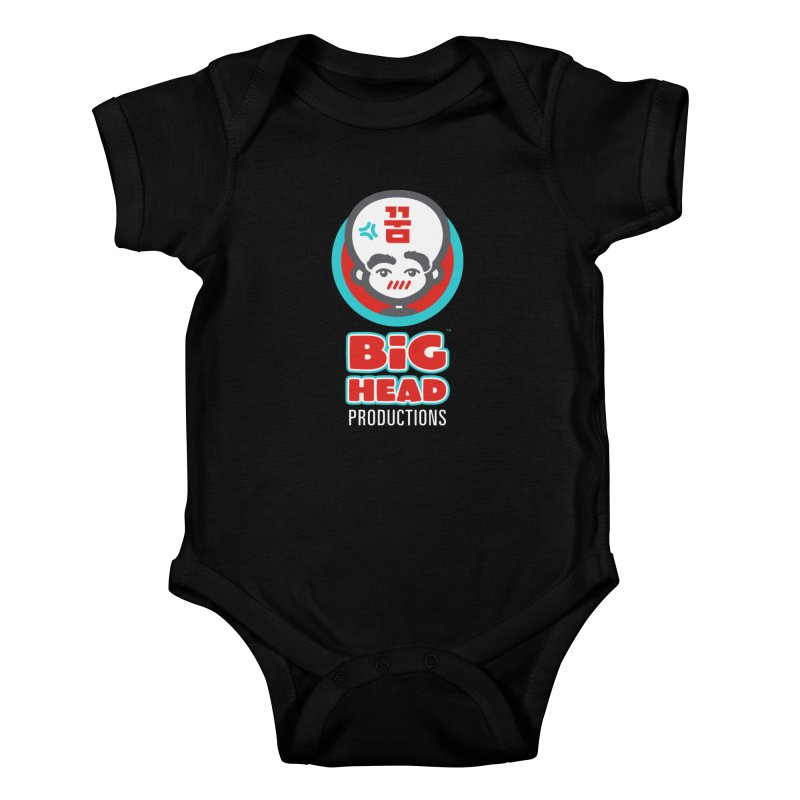 Big Head Productions (logo, vertical) Kids Baby Bodysuit by Big Head Productions Artist Shop
