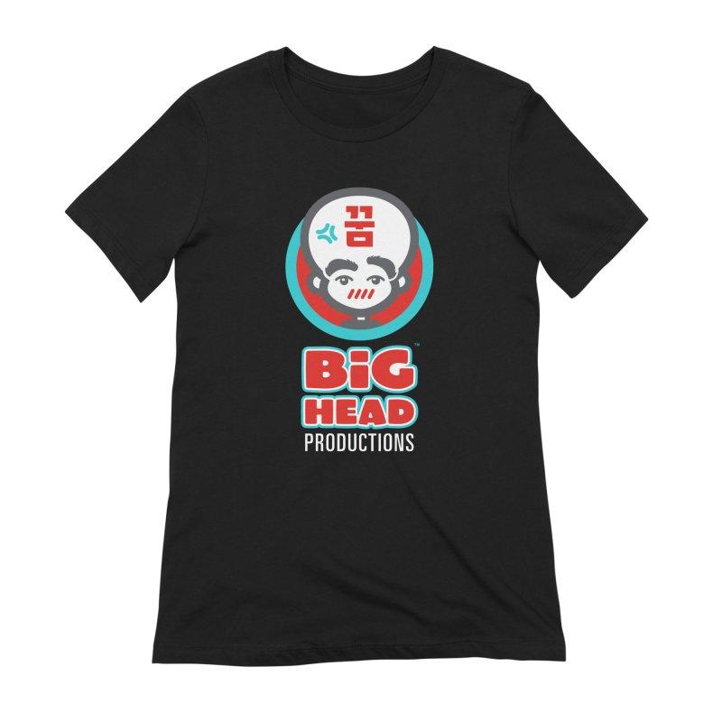 Big Head Productions (logo, vertical) Women's T-Shirt by Big Head Productions Artist Shop