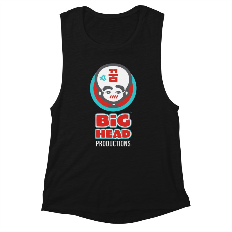 Big Head Productions (logo, vertical) Women's Tank by Big Head Productions Artist Shop