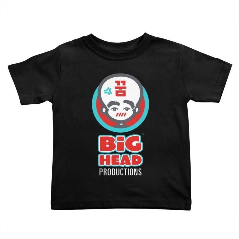 Big Head Productions (logo, vertical) Kids Toddler T-Shirt by Big Head Productions Artist Shop