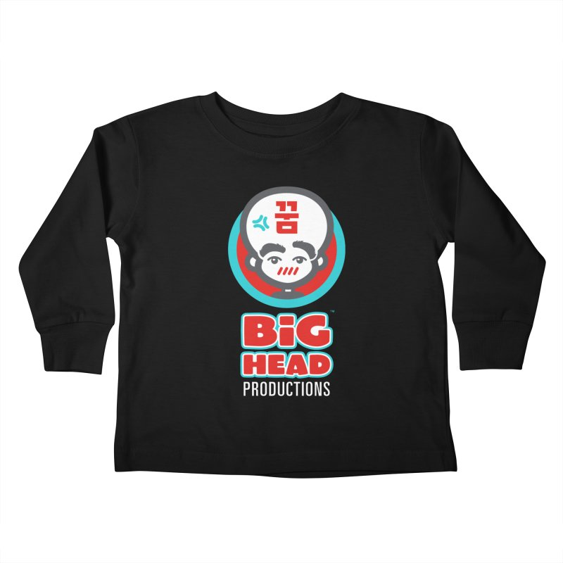 Big Head Productions (logo, vertical) Kids Toddler Longsleeve T-Shirt by Big Head Productions Artist Shop