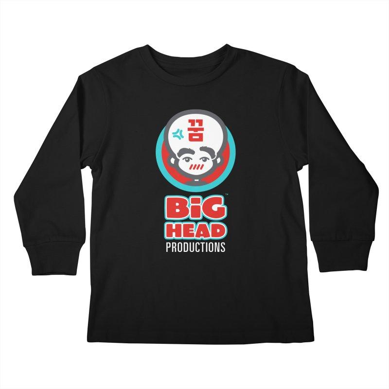 Big Head Productions (logo, vertical) Kids Longsleeve T-Shirt by Big Head Productions Artist Shop