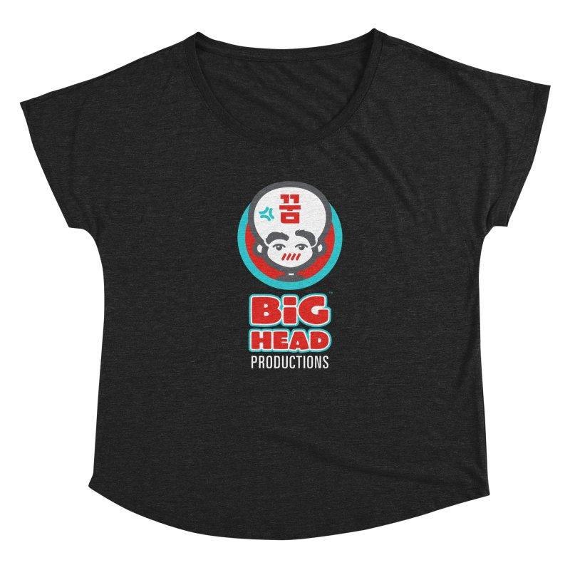 Big Head Productions (logo, vertical) Women's Scoop Neck by Big Head Productions Artist Shop