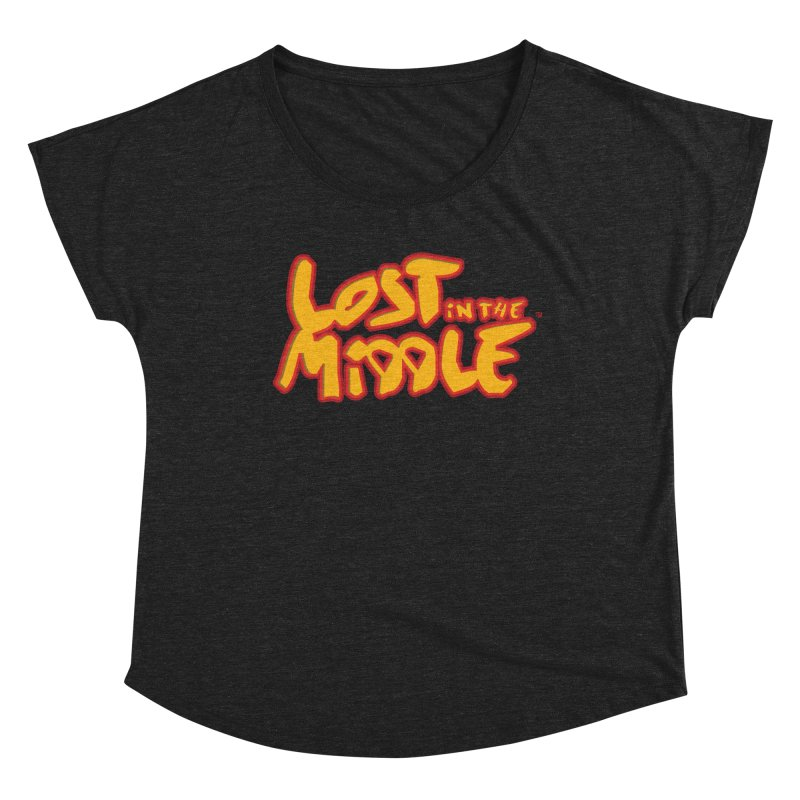 Lost in the Middle (title) Women's Scoop Neck by Big Head Productions Artist Shop