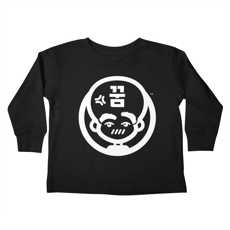 Big Head Productions (mark, white) Kids Toddler Longsleeve T-Shirt by Big Head Productions Artist Shop