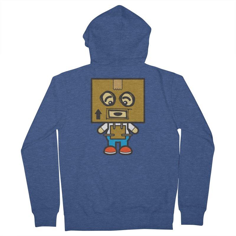 Box Bot (Cosplay Love™) Men's Zip-Up Hoody by Big Head Productions Artist Shop