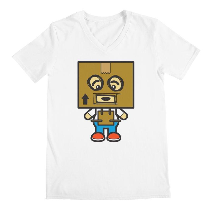 Box Bot (Cosplay Love™) Men's V-Neck by Big Head Productions Artist Shop