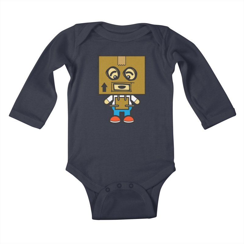 Box Bot (Cosplay Love™) Kids Baby Longsleeve Bodysuit by Big Head Productions Artist Shop