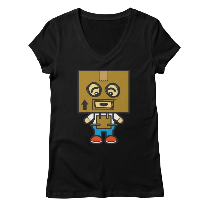 Box Bot (Cosplay Love™) Women's V-Neck by Big Head Productions Artist Shop