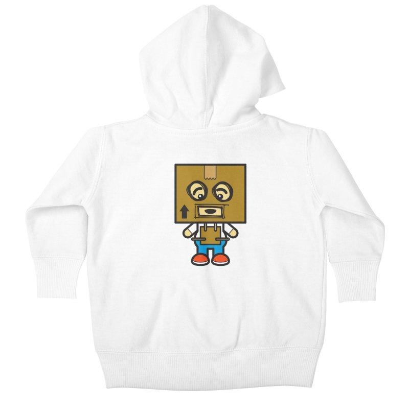 Box Bot (Cosplay Love™) Kids Baby Zip-Up Hoody by Big Head Productions Artist Shop