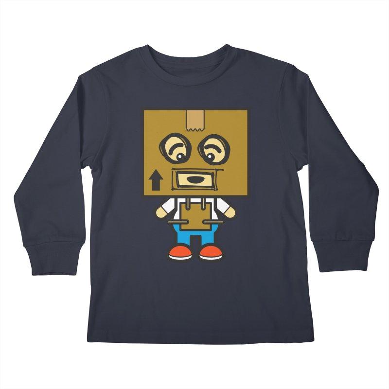 Box Bot (Cosplay Love™) Kids Longsleeve T-Shirt by Big Head Productions Artist Shop