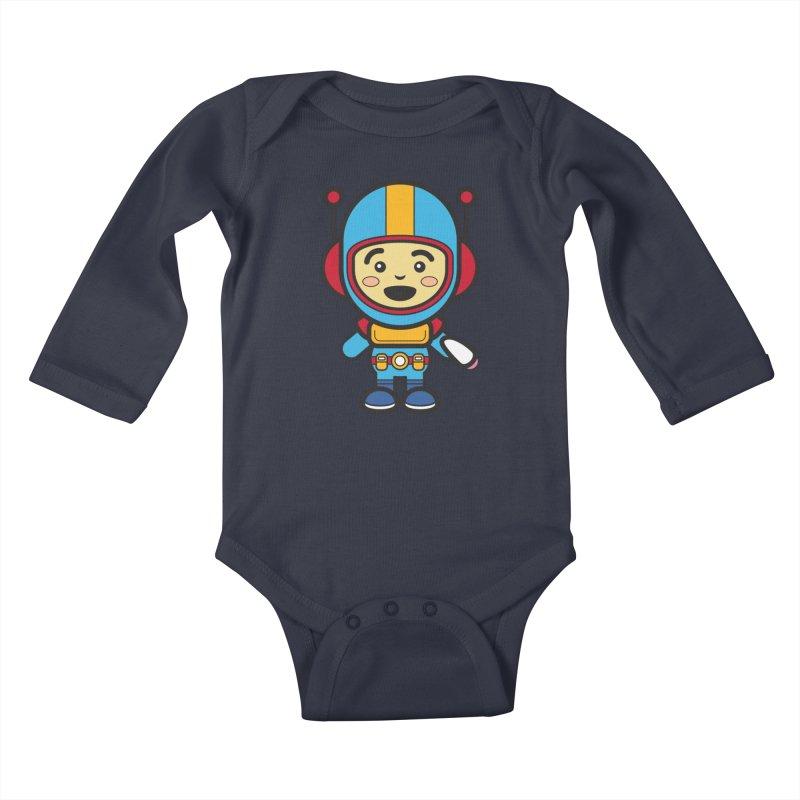 Spaceman (Cosplay Love™) Kids Baby Longsleeve Bodysuit by Big Head Productions Artist Shop