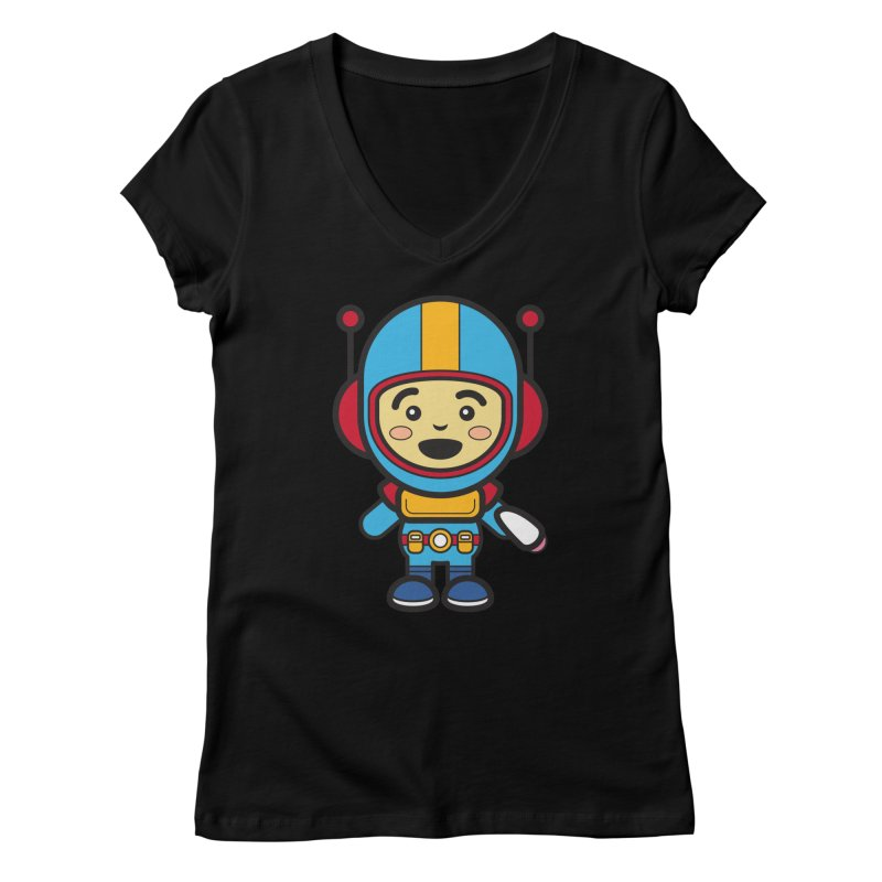 Spaceman (Cosplay Love™) Women's V-Neck by Big Head Productions Artist Shop