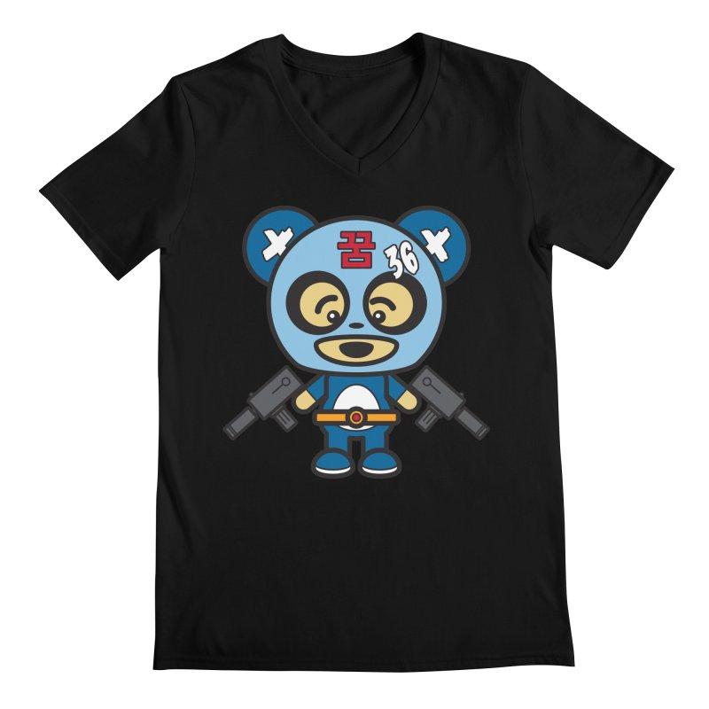 Wasteland Panda, boy (Cosplay Love™) Men's V-Neck by Big Head Productions Artist Shop