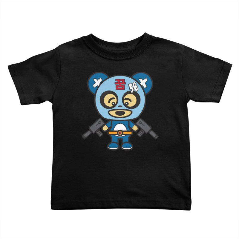 Wasteland Panda, boy (Cosplay Love™) Kids Toddler T-Shirt by Big Head Productions Artist Shop