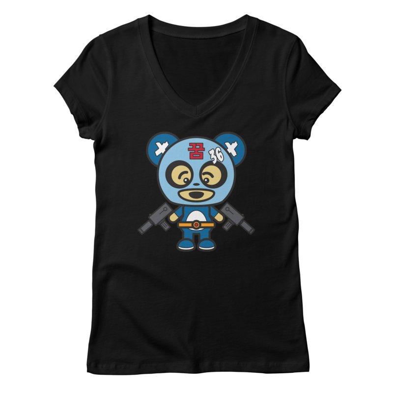 Wasteland Panda, boy (Cosplay Love™) Women's V-Neck by Big Head Productions Artist Shop